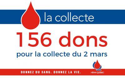 Retour sur la collecte de sang