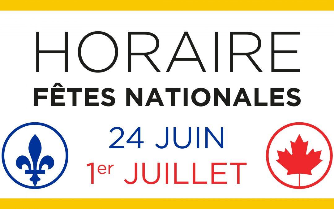 Carrefour Laplante - nouvelle - horaire fêtes nationales